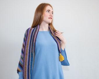 BARBARELLA, spring wool shawl