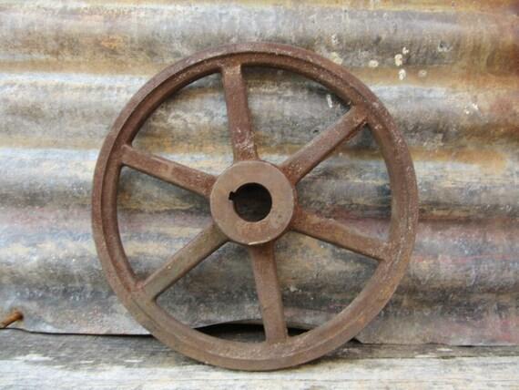 ancien fer antique roue industrielle rayons roue m tal. Black Bedroom Furniture Sets. Home Design Ideas