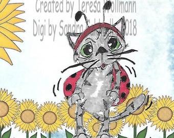 2088 Lady Bug Kat Digi Stamp