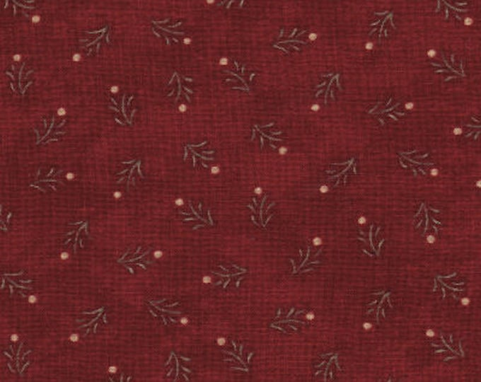 "Birchwood Lane by Holly Taylor for Moda 11042 11 Dark Red 90"" x  108"" Backing Fabric - Seamless"