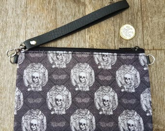 Gothic Bat & Skull Purse - Horror Halloween Goth Black Clutch Bag