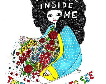 There Is Some Magic Inside Me - Signed Archival Print, by Ani Castillo.