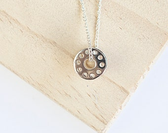 Albany * Sewing Bobbin Necklace * Sterling Silver * Sewing Machine Bobbin * Sewing Gift *Sewing Necklace * Bobbin Jewelry * Sewing Lover *