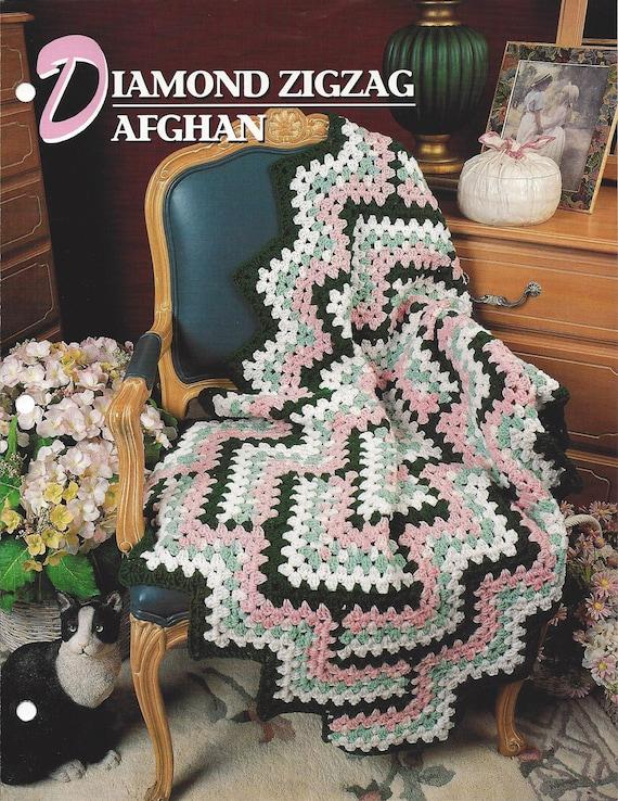 Diamond Zigzag Afghan Annies Crochet Quilt Afghan Crochet