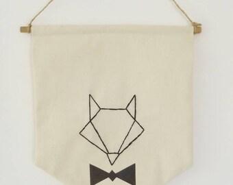 Flag/banner Mr. Fox bow tie