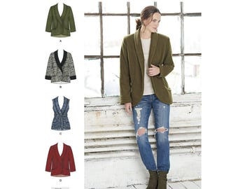 Simplicity Sewing Pattern 8468 Misses' Unlined Jacket and Vest