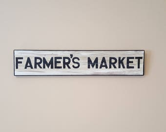 Vintage Replica Wood FARMER'S MARKET sign