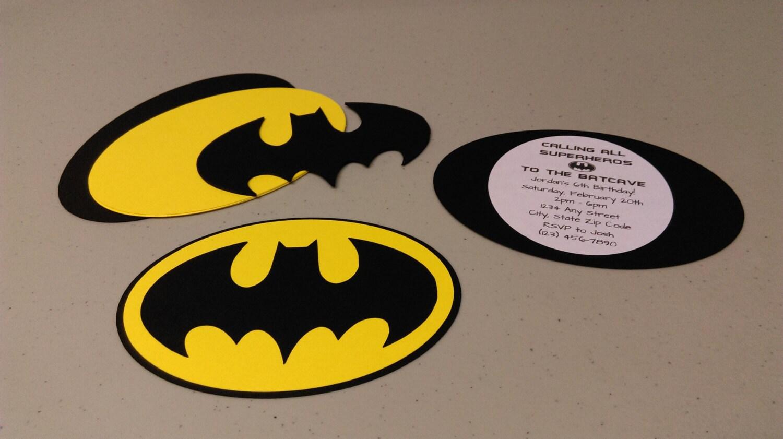 diy batman invitations super hero batman invitation set