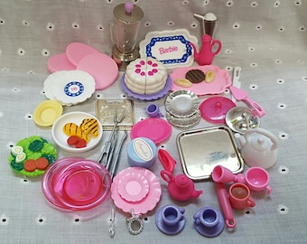 Lot of Vintage Barbie Kitchen Items - Barbie Miniatures - Barbie Food - Barbie Kitchen - 1990s