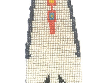 Vintage Indian Beaded Necktie