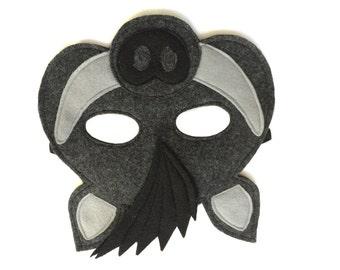 Children's Wild BOAR Warthog Felt Animal Mask