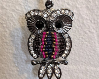 Vintage Owl Pendant and Chain