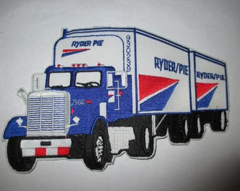 RYDER PIE embroidered patch tractor trailer semi truck