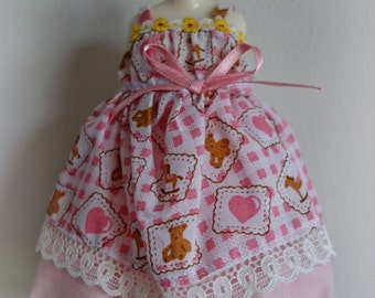 Pink Heart & Teddy Bear Dress * Blythe * Pullip * Jerry Berry *