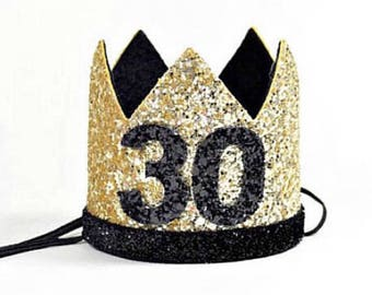 30th Birthday For Her    Dirty 30th Birthday    30th Birthday Hat    Adult 30th Party Hat    Gold 30th Birthday Party Crown Adult
