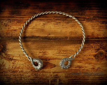 The Ipswich Torcs, Silver plated Copper and Bronze, Celtic jewelry