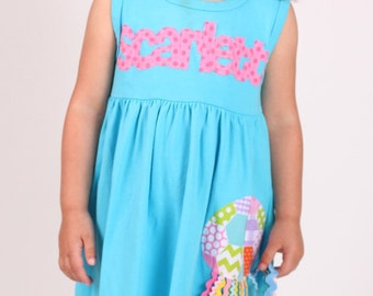 Jellyfish Dress - Summer Dress- Personalized Dress- You Choose Dress Color and Sleeve Length
