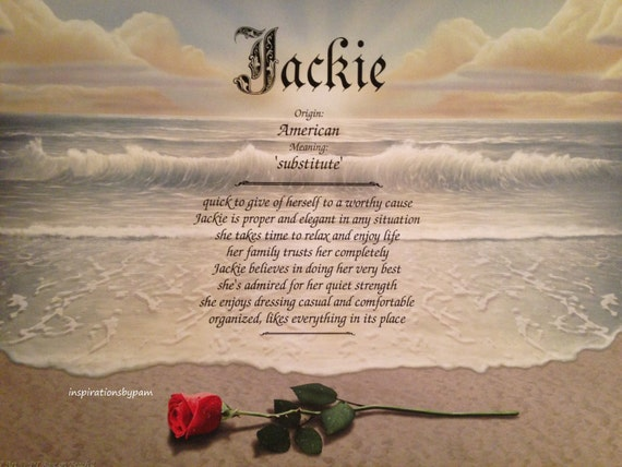 Jackie First Name Meaning Art Print Name Meaning