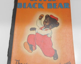 Vintage 1939 Copyright, Little Black Bear (28) The Story Of The Pail Of Honey