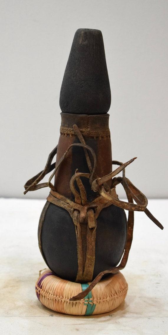 African Jug Malla Wood Milk Samburu Black Wood Shells Kenya Milk Jug