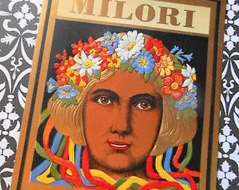 Pre-1920s Milori Litho Cigar Outer Label German Lady Art Deco