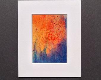 Original ACEO abstract artwork 'Night' series #4 Yorkshire artist