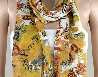 Chiffon printing scarf, multi-functional decorative scarves, belts, scarf, preferential promotional scarves