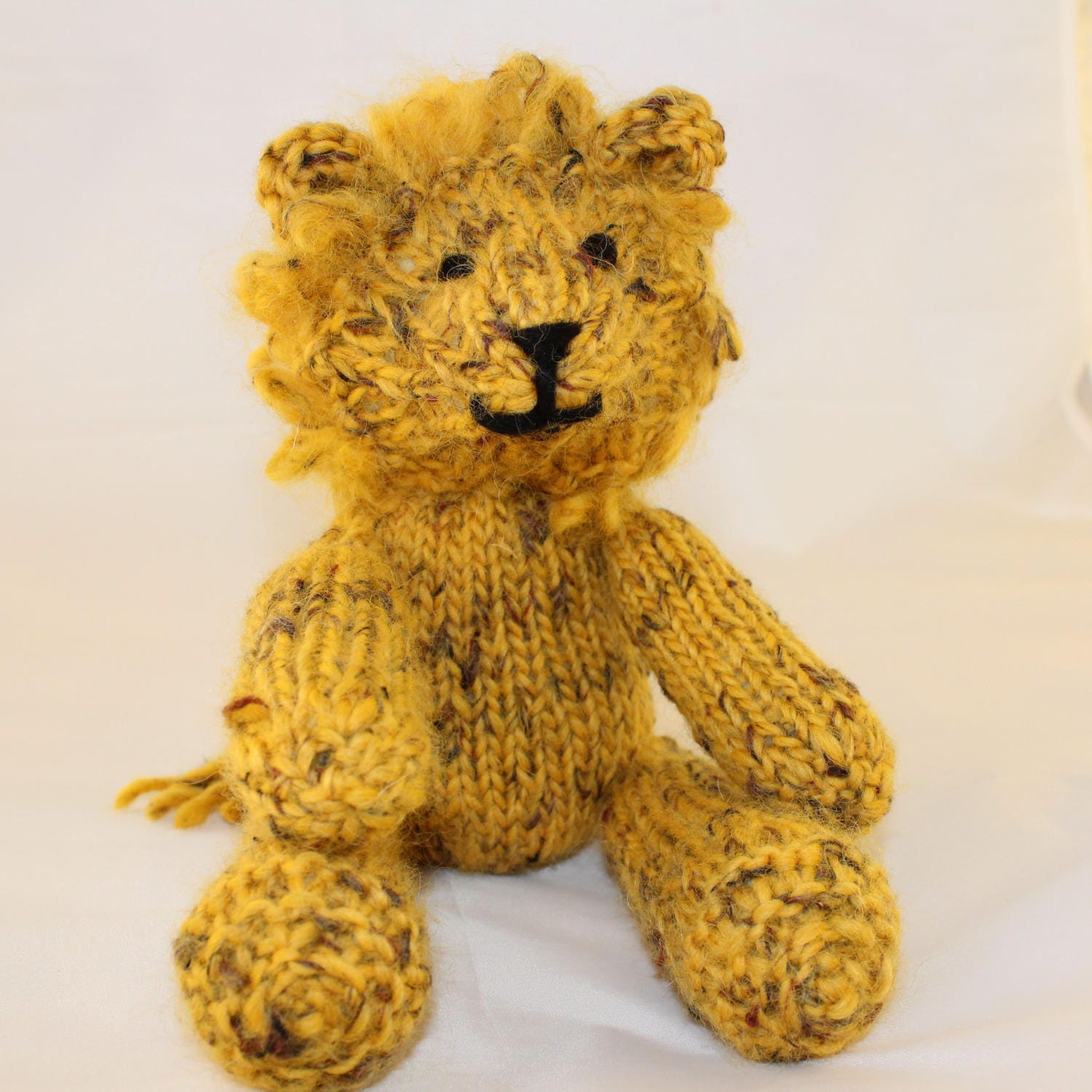 Knitting Pattern (UK) for Leonard Lion - a gorgeous knitted lion ...