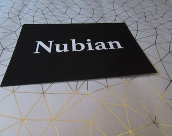 Nubian postcard