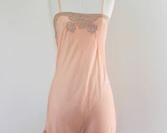 1930s Peach Silk Step-In