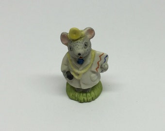 Russ Figurine Doctor Lil' Mouse Town Porcelain Miniature Occupation Mice
