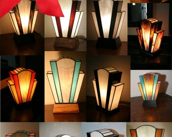 """Gift voucher for lamp Art Deco lamp Tiffany stained glass Tiffany, """"last"""" table """"Nude"""" lamp"""