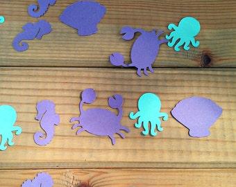 Mermaid Confetti - Die Cuts - Embellishments - Party Supplies - under the sea