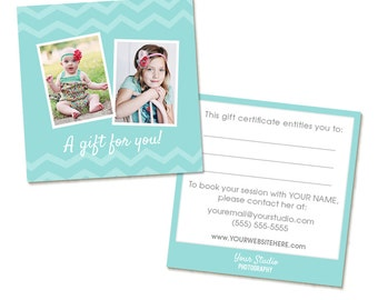 Photography Gift Certificate PSD Template, Editable Photoshop Template - INSTANT DOWNLOAD
