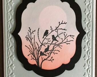 Birds on Branch Sympathy Card