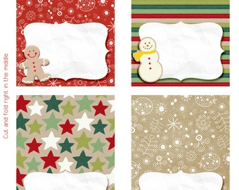 Cookie Exchange Cookie Swap Tent Cards. Holiday Party Christmas Printable. Digital.