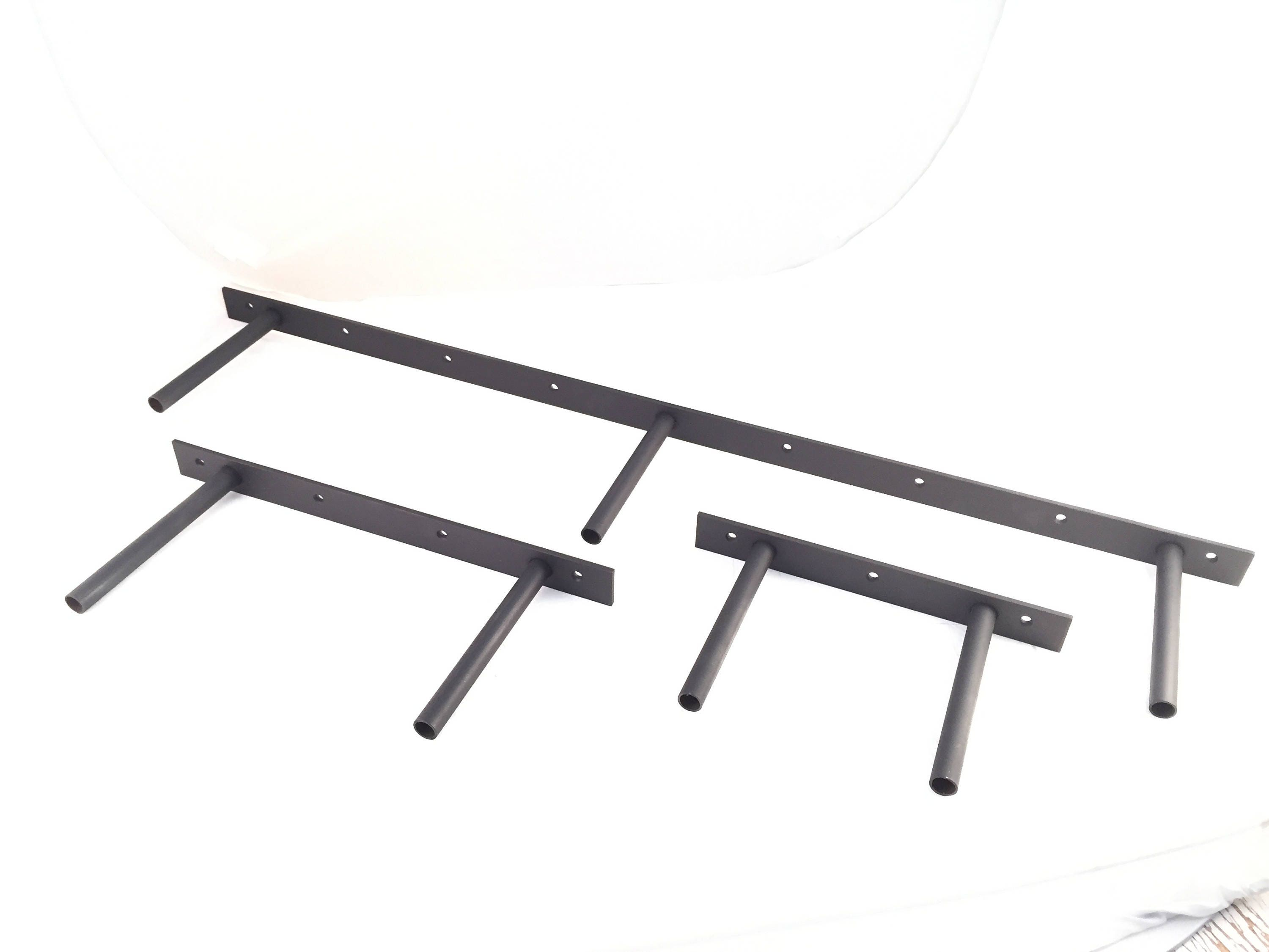 2 Pack Heavy Duty Floating Fireplace Mantel Shelf Brackets