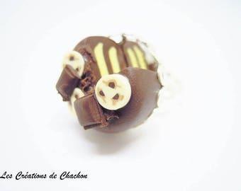 Delicious chocolate banana cake ring