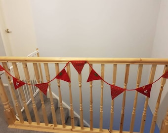Red festive bunting