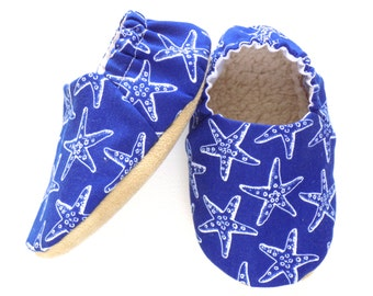 Starfish Baby Boy Shoes, Baby Booties, Baby Soft Shoes, Slip On Baby Shoes, Baby Beach Shoes, Baby Boy Gift