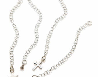 Extender Chain 925 Sterling Silver , Chain Extender , Tear Drop Necklace Extension