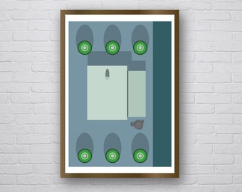 Modernists by Night - original giclee art print