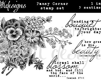 Pansy Corner Digital Stamp Set