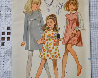 Butterick 5399 Sewing Pattern Girls Dress Jumper Size 14 DIY Fashion Sewing Crafts PanchosPorch