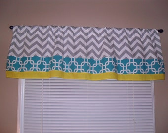 Handmade Curtain Valance, 50W x 15L, in Assorted Your Choice Fabrics/Prints ,Home Decor,Nursery