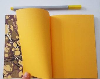 Ebru paper notebook