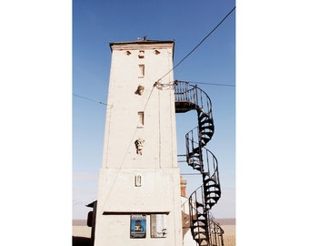 Architecture Photography - Aldeburgh Lookout Tower Fine Art Photograph - English Seaside Art - Beach House Decor - Vintage England