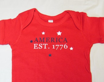 July 4th Independence Day Baby Onesie Celebrate