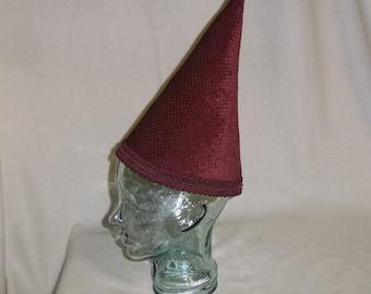 Burgundy Wizard Hat