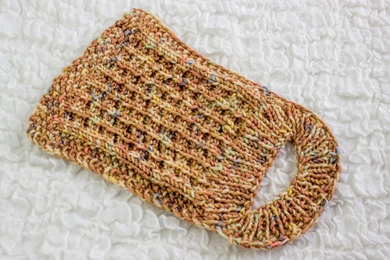 Free Knitting Pattern Knit Baby Bib Pattern Easy Slip On